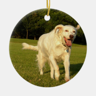English Setter Ceramic Ornament