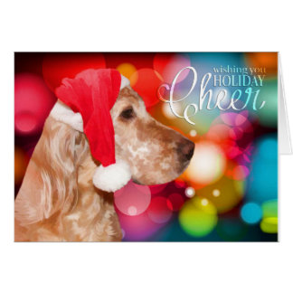English Setter Christmas Card