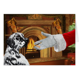 English Setter Christmas Holiday Card