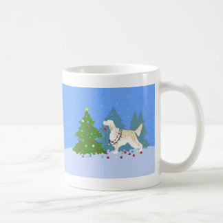 English Setter Decorating Tree in the Forest Coffee Mug