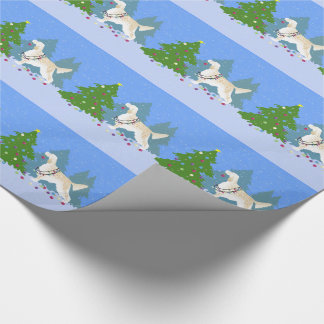 English Setter Decorating Tree in the Forest Wrapping Paper