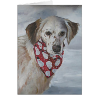 English Setter Dog Art Greeting Card