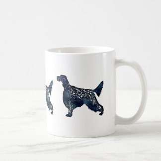 English Setter Dog Black Watercolor Silhouette Coffee Mug