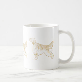 English Setter Dog Breed Illustration Silhouette Coffee Mug