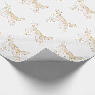 English Setter Dog Breed Illustration Silhouette Wrapping Paper