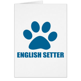 ENGLISH SETTER DOG DESIGNS CARD