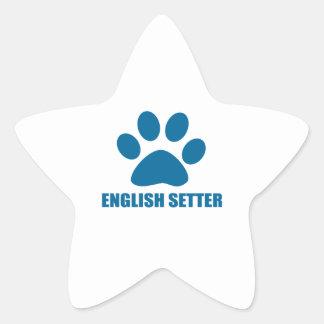 ENGLISH SETTER DOG DESIGNS STAR STICKER