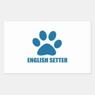 ENGLISH SETTER DOG DESIGNS STICKER