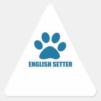 ENGLISH SETTER DOG DESIGNS TRIANGLE STICKER