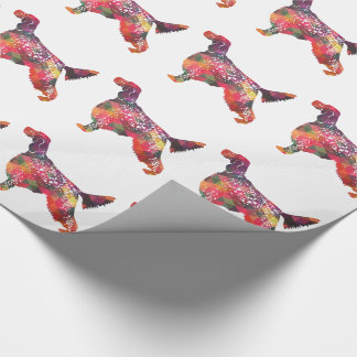 English Setter Dog Geometric Silhouette - Multi Wrapping Paper