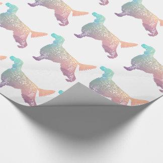 English Setter Dog Geometric Silhouette - Pastel