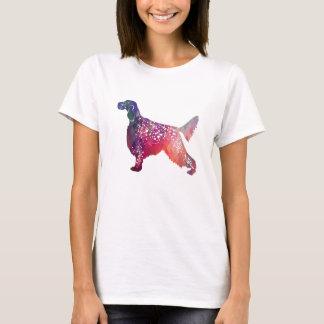 English Setter Dog Geometric Silhouette - Pink T-Shirt