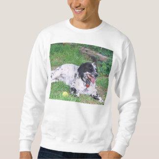 English Setter full laying Sweatshirt