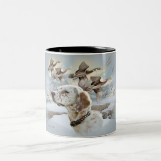 English Setter Hunts mug