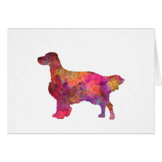 English Setter in watercolor Card