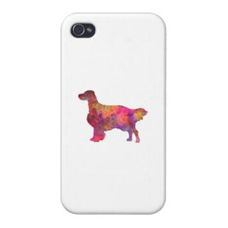 English Setter in watercolor iPhone 4 Cases
