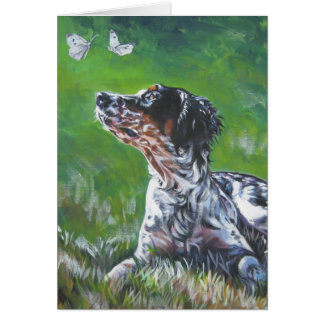 english setter llewellin  blank card