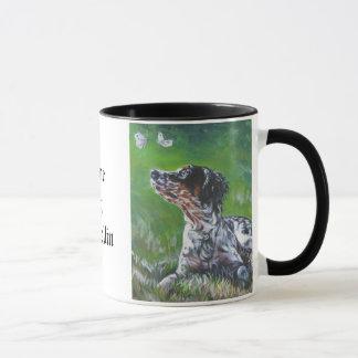 english setter llewellin mug