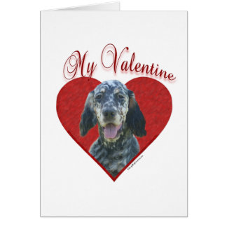 English Setter My Valentine Card