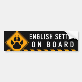 English Setter On Board Bumper Sticker