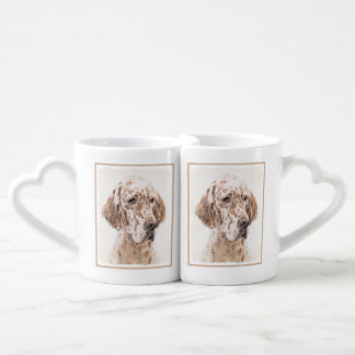 English Setter (Orange Belton) Coffee Mug Set