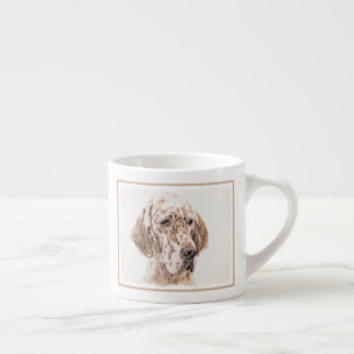 English Setter (Orange Belton) Espresso Cup