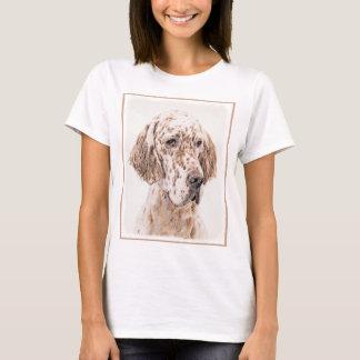 English Setter Orange Belton Painting Dog Art T-Shirt