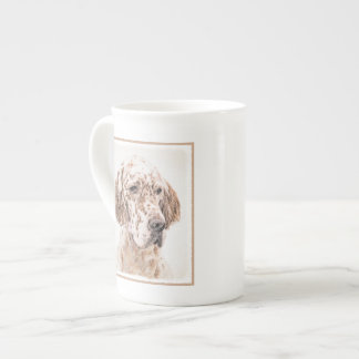 English Setter (Orange Belton) Tea Cup