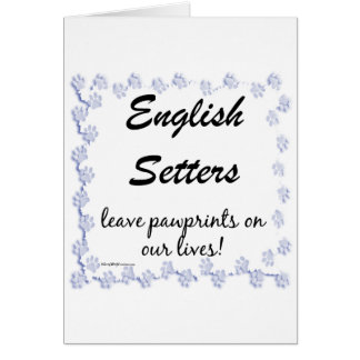 English Setter Pawprints Card