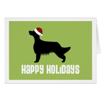 English Setter Santa Hat Card