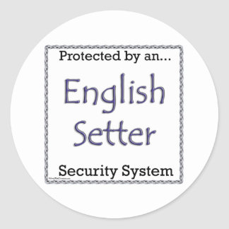 English Setter Security System Sticker