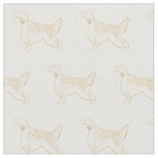 English Setter Silhouette Tiled Fabric - Basic
