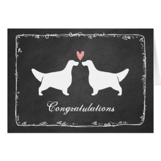 English Setters Wedding Congratulations Card