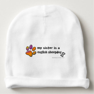 english sheepdog baby beanie