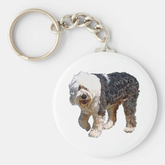 English Sheepdog Keychain