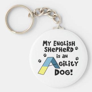 English Shepherd Agility Dog Keychain