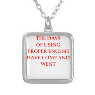 ENGLISH SILVER PLATED NECKLACE