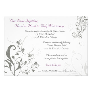 English Special Order Vines and Floral Invite