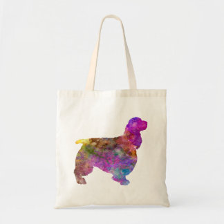 English Springer Spaniel 01 in watercolor 2 Tote Bag