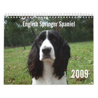 English Springer Spaniel 2009 Calendar