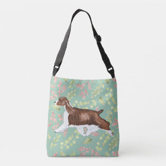 English Springer Spaniel Bag/Tote Aqua Crossbody Bag