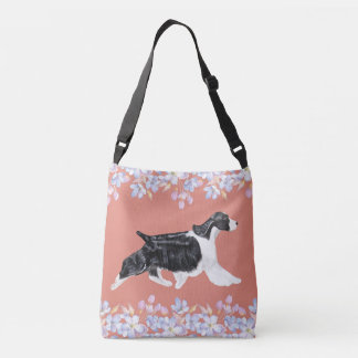 English Springer Spaniel Bag/Tote - Dark Peach Crossbody Bag