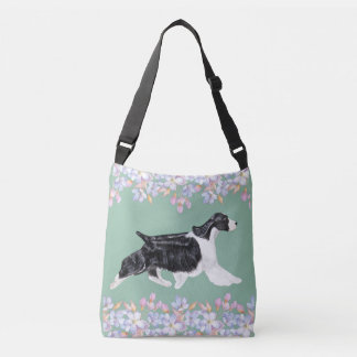 English Springer Spaniel Bag/Tote Dusky Teal Crossbody Bag