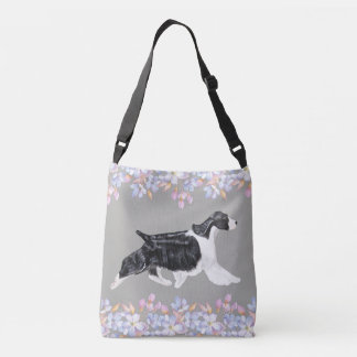 English Springer Spaniel Bag/Tote - Grey Crossbody Bag