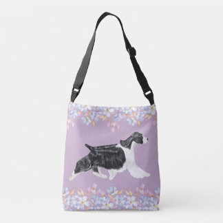 English Springer Spaniel Bag/Tote - Lilac Crossbody Bag