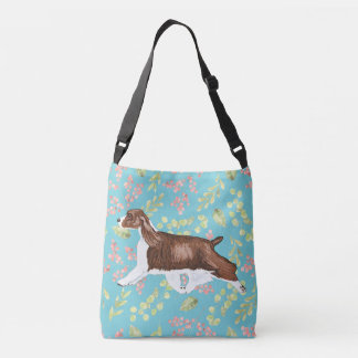 English Springer Spaniel Bag/Tote Lt Blue Crossbody Bag