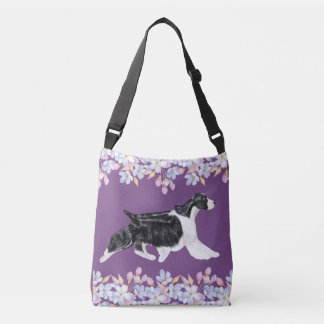 English Springer Spaniel Bag/Tote - Purple Crossbody Bag
