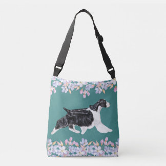 English Springer Spaniel Bag/Tote - Teal Crossbody Bag
