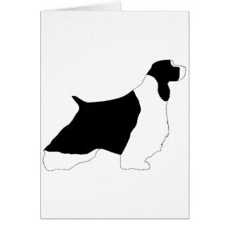 English Springer Spaniel black white silo Card