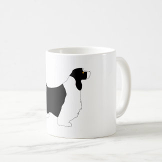 English Springer Spaniel black white tan silo Coffee Mug